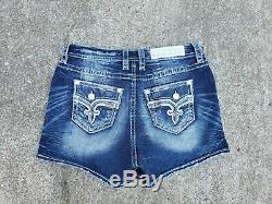 Rock Revival Betty Easy Stretch Distressed Shorts Size 30
