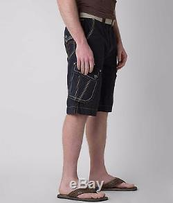 Rock Revival Brand Men's Casual Fashion Navy cargo shorts Big Stitch RCM075