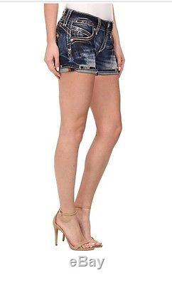 Rock Revival Bruna Shorts 26 $129 NWT Roll Up Or Down