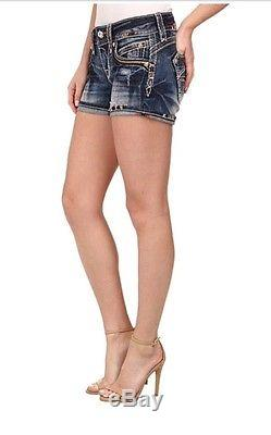 Rock Revival Bruna Shorts 27 $129 NWT Roll Up Or Down