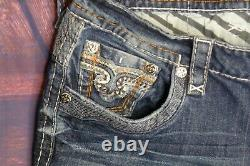 Rock Revival Buckle Distressed Feeney Stretch Men's Jeans Shorts Size 34