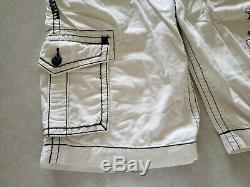 Rock Revival Classic Cargo Shorts Mens Shorts White Buckle Size Waist 34 x 23