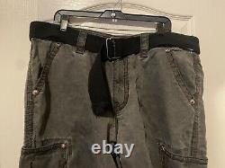 Rock Revival Classic Shorts Belt Heavy Stitching 12 Inch INSEAM Gray Mens Sz 38