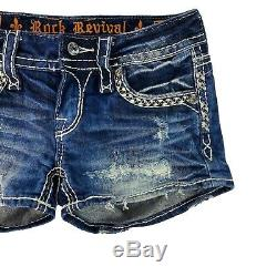 Rock Revival Claudia Jean Shorts Size 24 Distressed Ripped