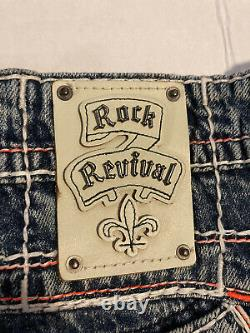 Rock Revival Corin Shorts Mens Size 36 Distressed Finish EXCELLENT CONDITION