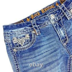 Rock Revival Ena Skinny Jeans Distressed Size 29 Short Distressed Ripped