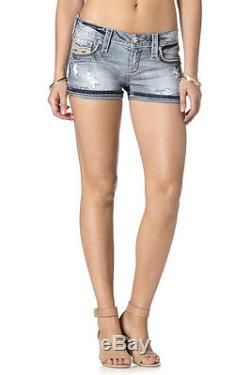 Rock Revival Jeans Women's Chereen H202 Light Wash Distressed Shorts RP9247H202