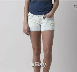 Rock Revival Jeans Womens Julieya Shorts Sz 27 Distressed Light Wash NWT