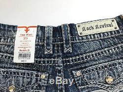 Rock Revival Lavia Womens Embellished Easy Short Jean Shorts Size 25 NWT