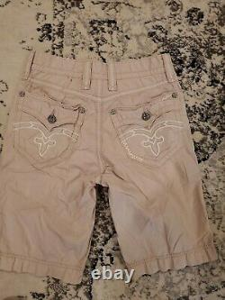 Rock Revival Lot Size 30 Mens Distressed Cargo Shorts