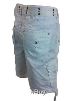 Rock Revival Men's Belted Cargo Shorts Many Sizes