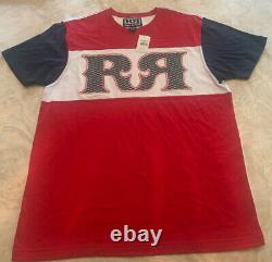 Rock Revival Mens Short Sleeve Red White Blue Shirt Style FBA4388 Large New