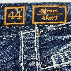 Rock Revival Mens Strom Stretch Shorts Distressed Embroidered Pockets Size 44