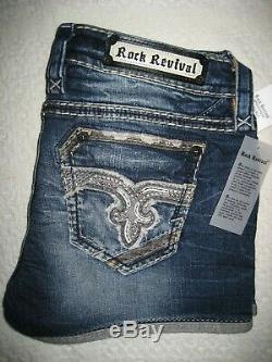 Rock Revival Nadie Shorts RP9585H200 Women's or Juniors Jeans Shorts Size 24