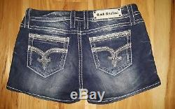 Rock Revival Sherry Shorts Size 31 Bling Rhinestones stretch WORN ONCE