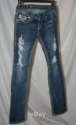Rock Revival Stacey Straight Stretch Jean Size 25 Short