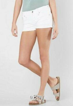Rock Revival Teyla H200 White Stretch Embellished Jean Denim Shorts 29 Buckle