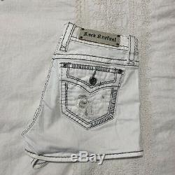 Rock Revival White Shorts The Buckle Sz 30