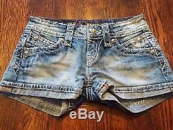 Rock Revival Women's Amy Jean Shorts Size 24 Thick Stitching Short! EUC
