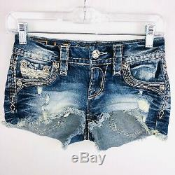 Rock Revival Womens 23 Caylin Denim Jean Shorts Flap Back Pockets