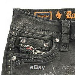 Rock Revival Womens Collector Edition Sundee Black Distressed Jean Shorts-27