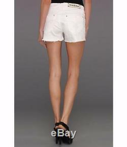 Rock Revival Womens Shorts White Jean Crystal Bling Rhinestone Size 26 28 New