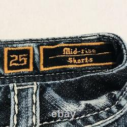Rock Revival Womens Size 25 Blue Cutoff Betty Mid Rise Stretch Jean Shorts