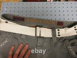 Rock Revival belted Big Stitch Size 34 Cargo Shorts Out seam Gray 24 Excellent
