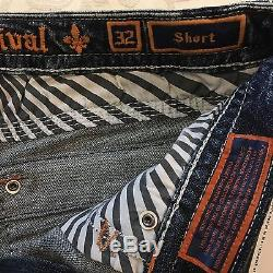 Women's ROCK REVIVAL Clair Short Blue Jean Distressed Shorts Size 32 NWT $139