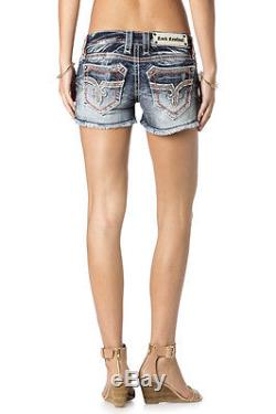 Women's Rock Revival Denim Shorts (Windie) Size 28 New With Tags Retail $144