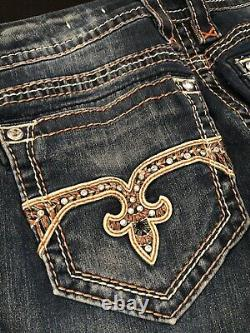 Women's Rock Revival Shorts / Cut-Off Jeans. Easy Straight Size 32 Haine. Buckle