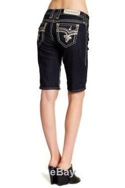 Womens Rock Revival Mid Rise Bermuda Shorts Size 27 Very Nice
