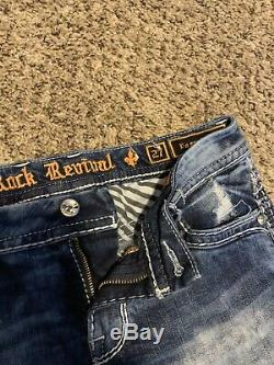 Womens rock revival shorts size 27 Rhinestone and Sequin Pocket Detail